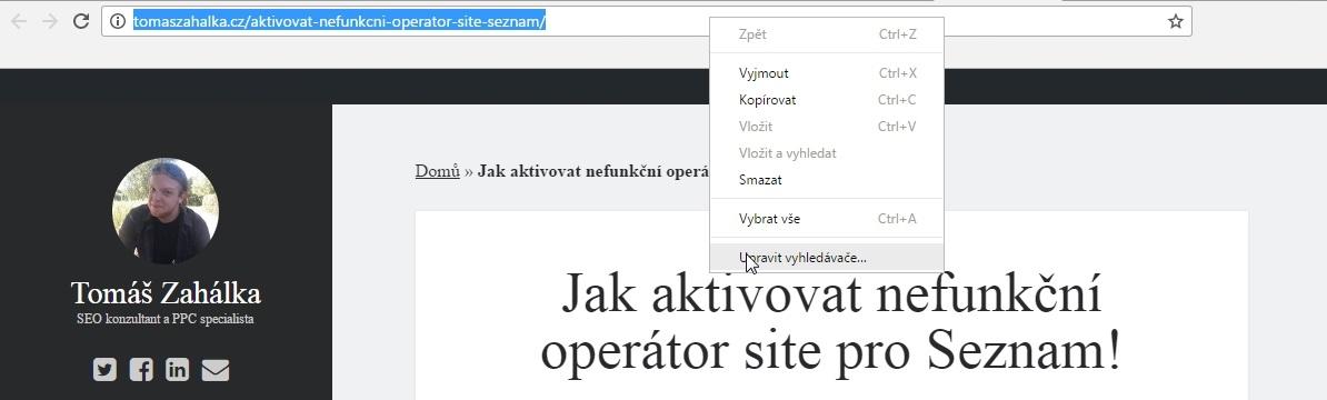 Jak aktivovat nefunkční operátor site pro Seznam! 2