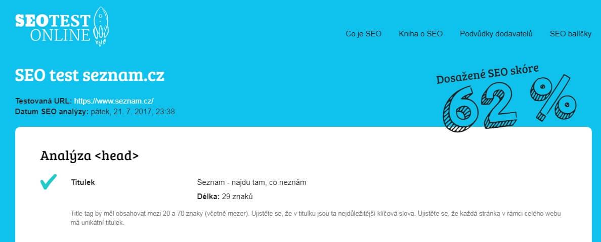 SEO test online