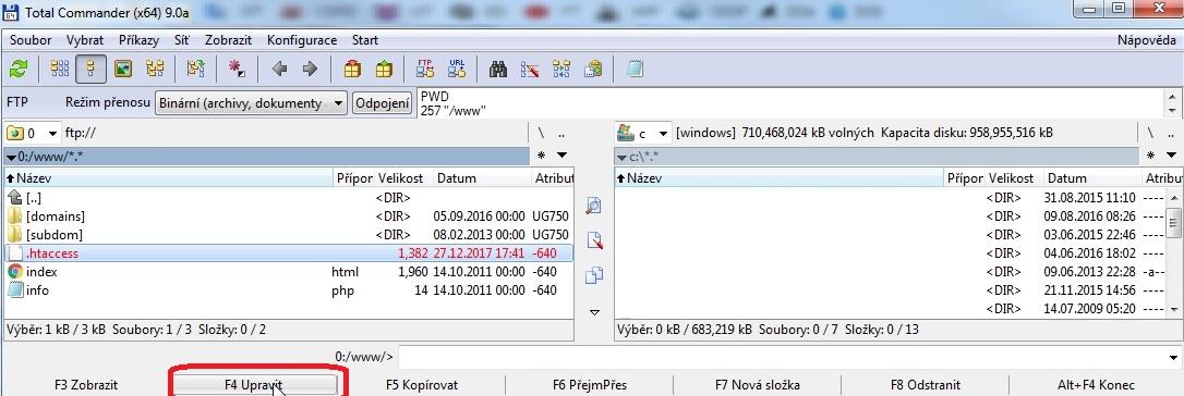 WEDOS - Návod jak přejít zdarma na HTTPS s Let's Encrypt certifikátem u Wordpressu. 6