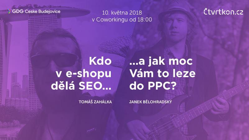 Pozvánka na SEO / PPC přednášku 10. 5. 2018 v Českých Budějovicích 21
