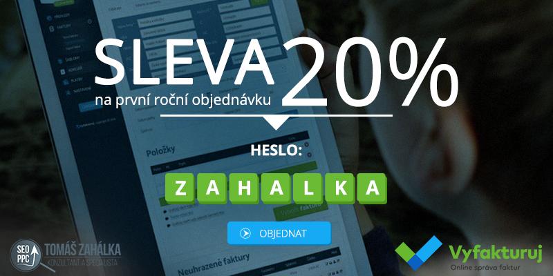 Vyfakturuj.cz - Kupón se slevou 20 % na první roční objednávku! 1