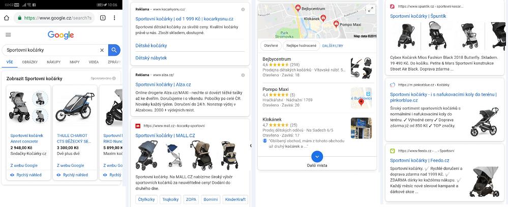 Google nová mobilní verze výsledků vyhledávání