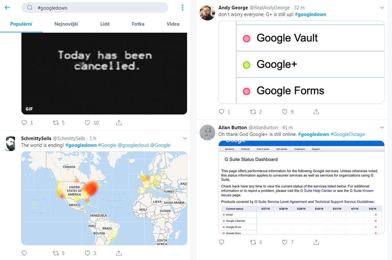 #Googledown - Twitter