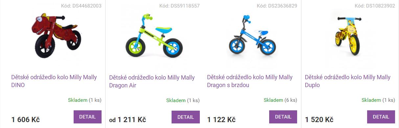 Varianty produktů Shoptet